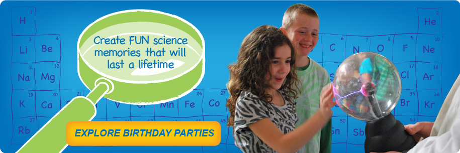 Kid Science Birthday Parties